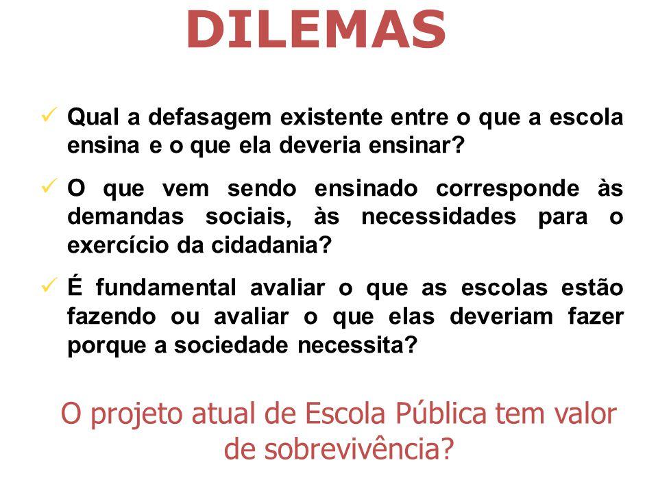O projeto atual de Escola Pública tem valor de sobrevivência