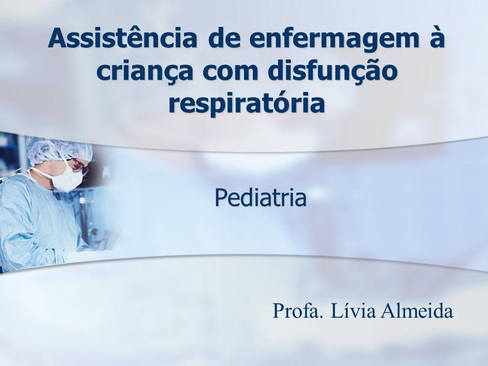 Assistência de enfermagem à criança com disfunção respiratória
