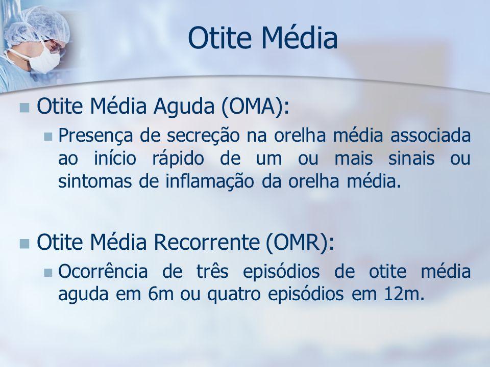 Otite Média Otite Média Aguda (OMA): Otite Média Recorrente (OMR):
