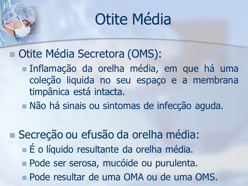 Otite Média Otite Média Secretora (OMS):