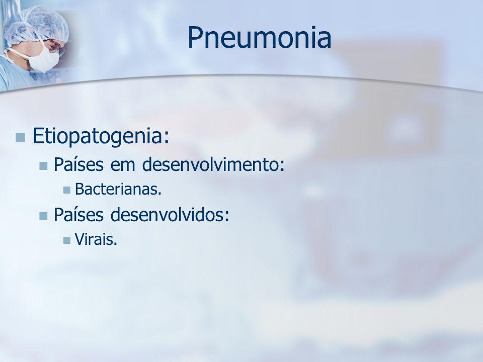 Pneumonia Etiopatogenia: Países em desenvolvimento: