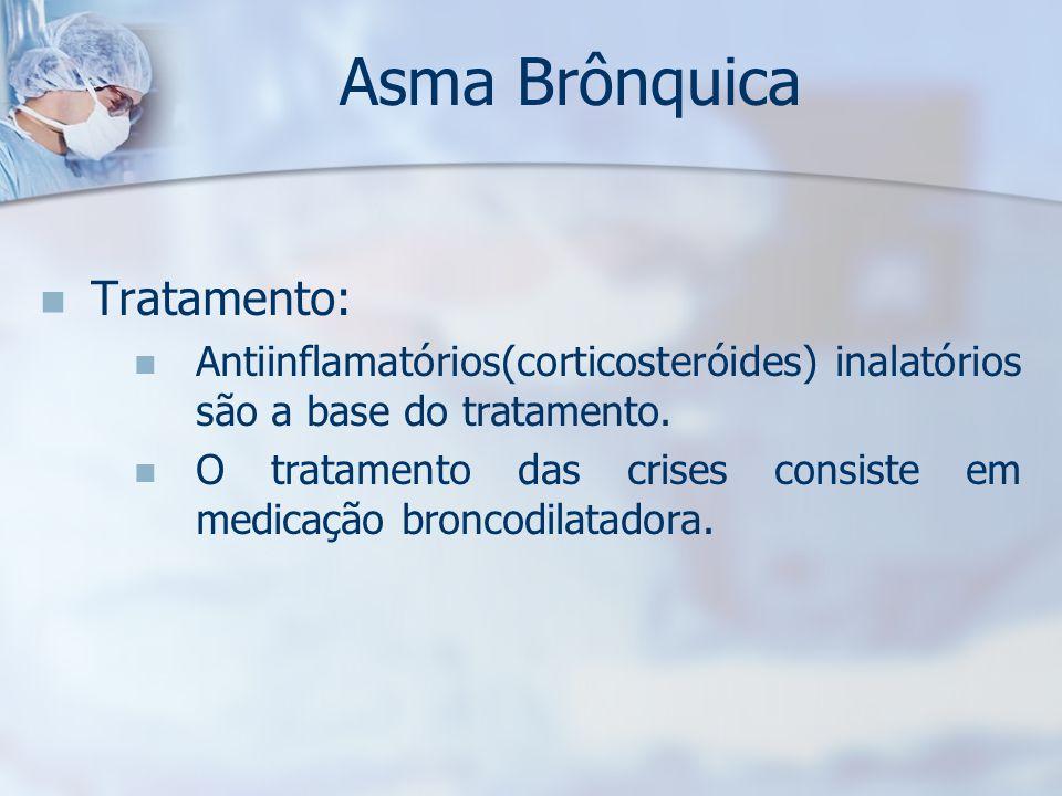 Asma Brônquica Tratamento: