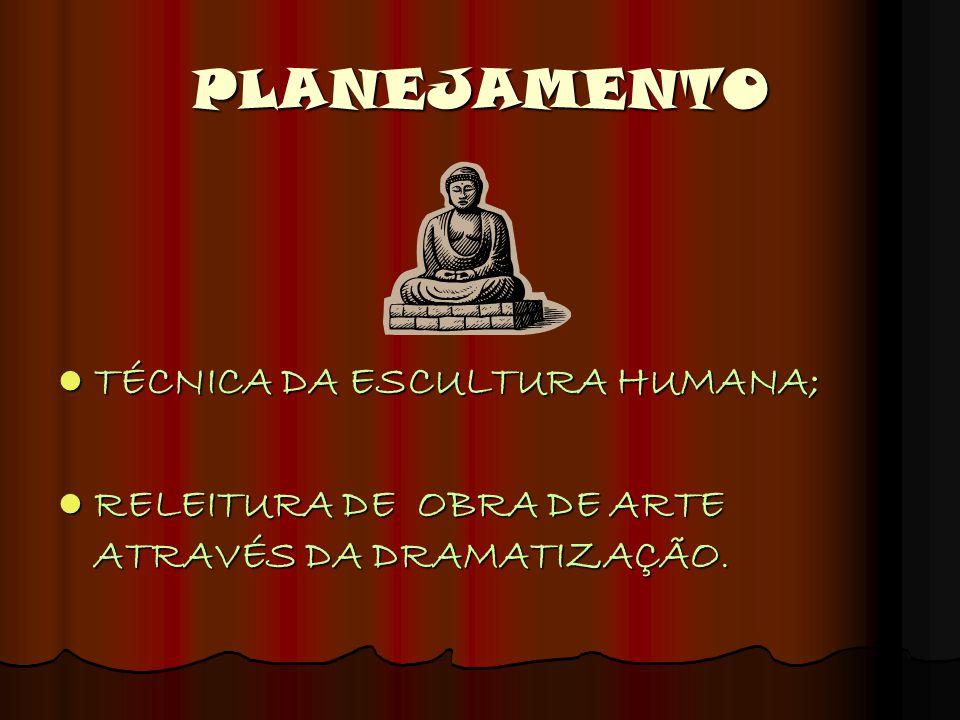 PLANEJAMENTO TÉCNICA DA ESCULTURA HUMANA;