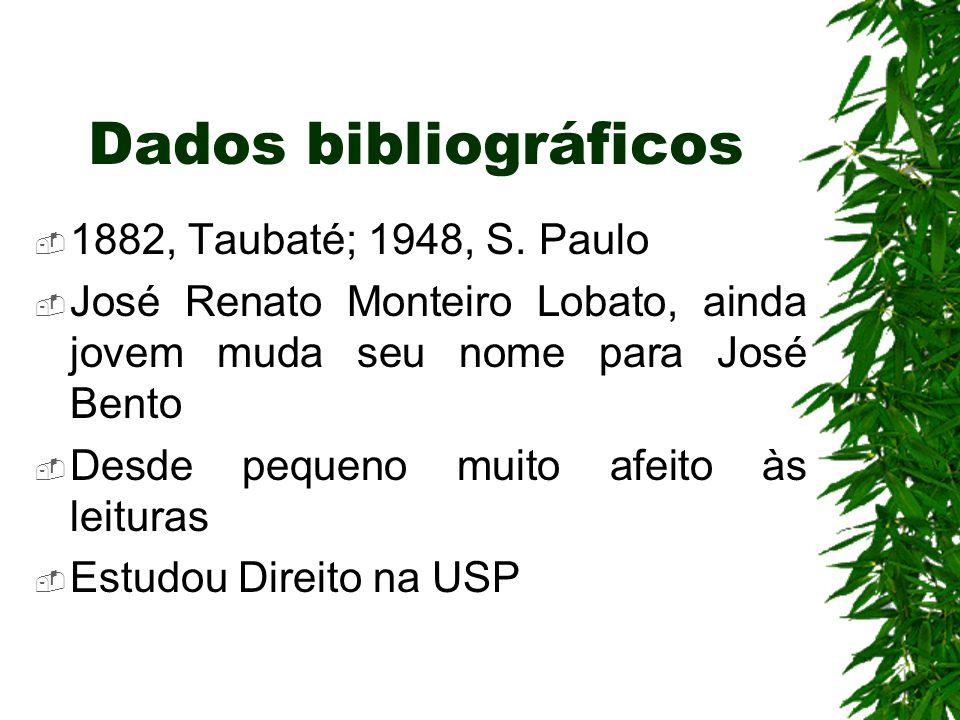Dados bibliográficos 1882, Taubaté; 1948, S. Paulo