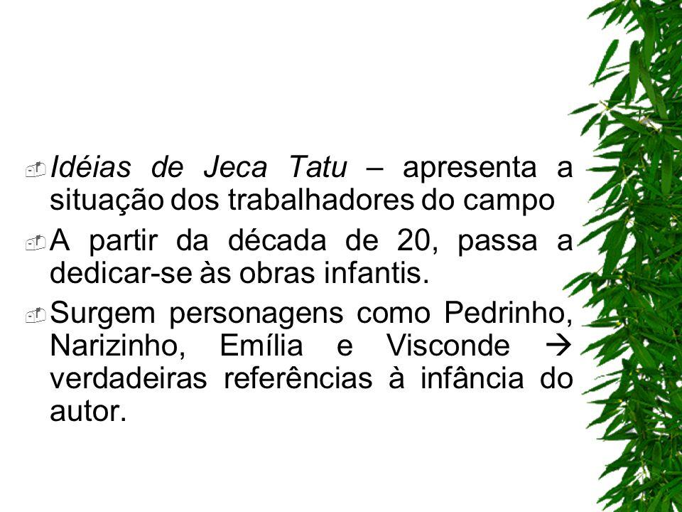Idéias de Jeca Tatu – apresenta a situação dos trabalhadores do campo