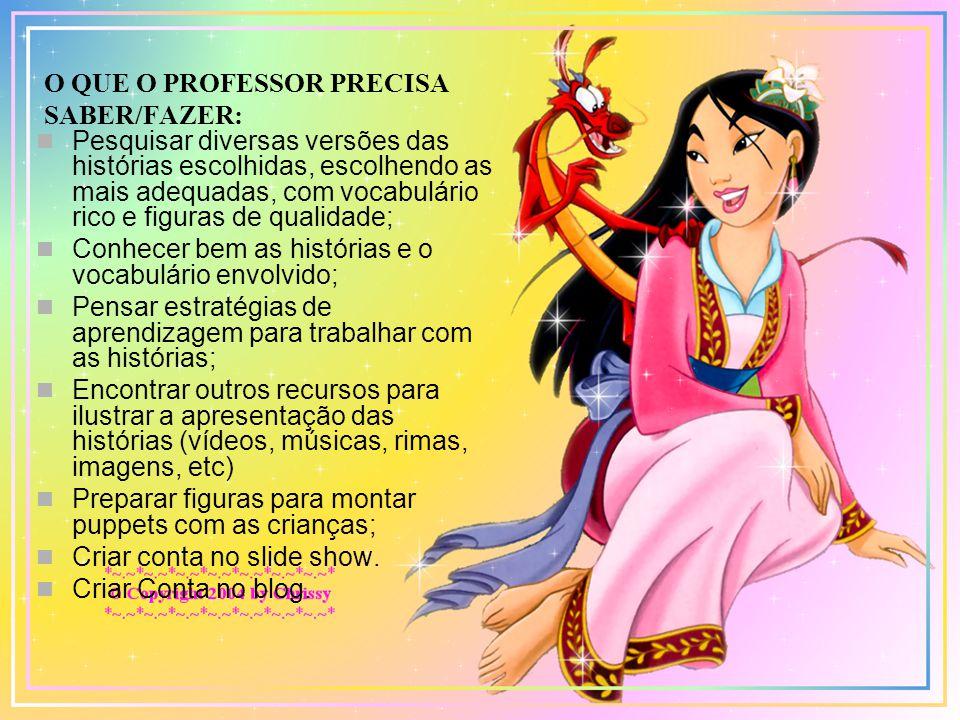 O QUE O PROFESSOR PRECISA SABER/FAZER: