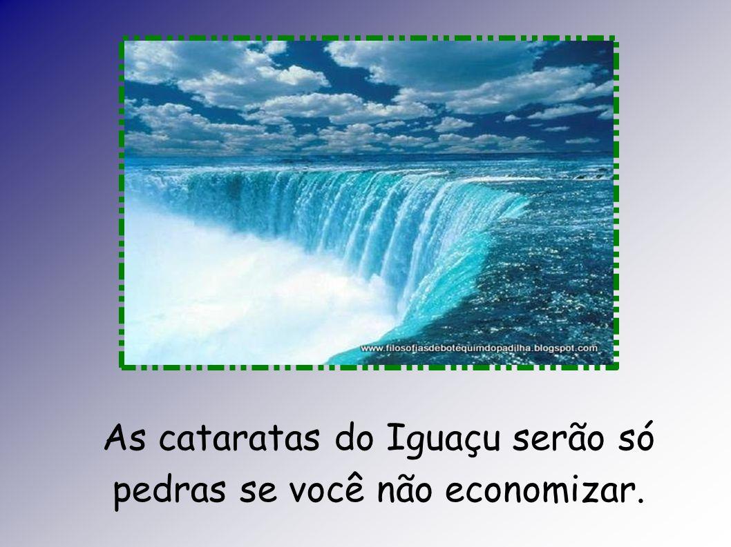 As cataratas do Iguaçu serão só pedras se você não economizar.