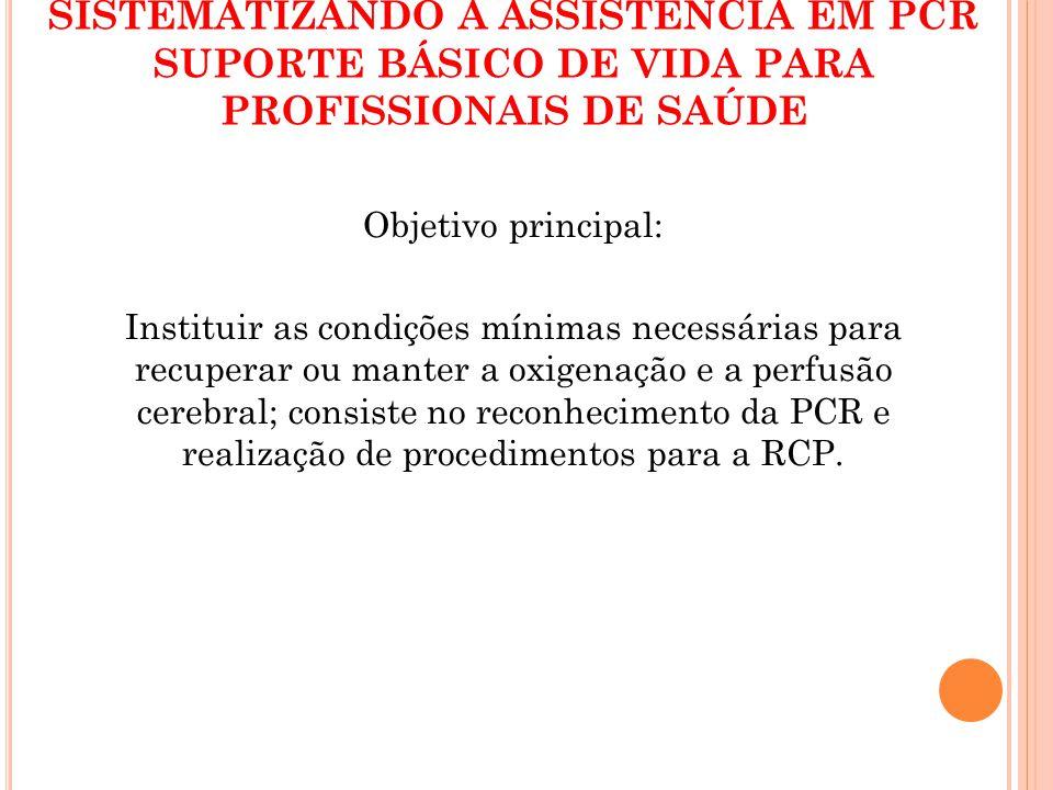 SISTEMATIZANDO A ASSISTÊNCIA EM PCR SUPORTE BÁSICO DE VIDA PARA PROFISSIONAIS DE SAÚDE