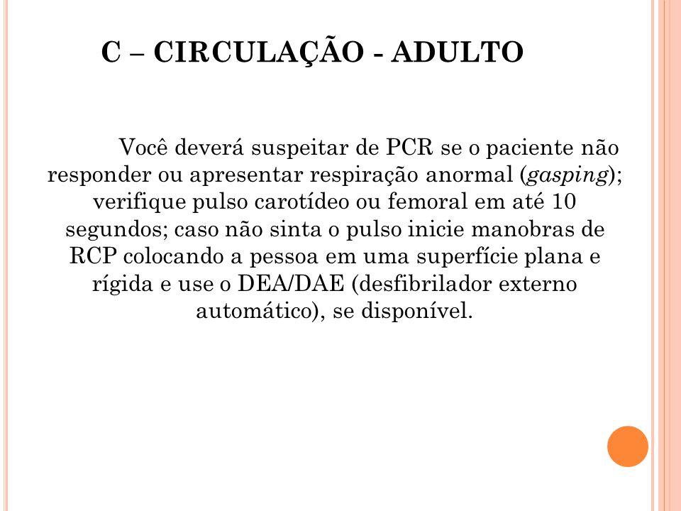 C – CIRCULAÇÃO - ADULTO