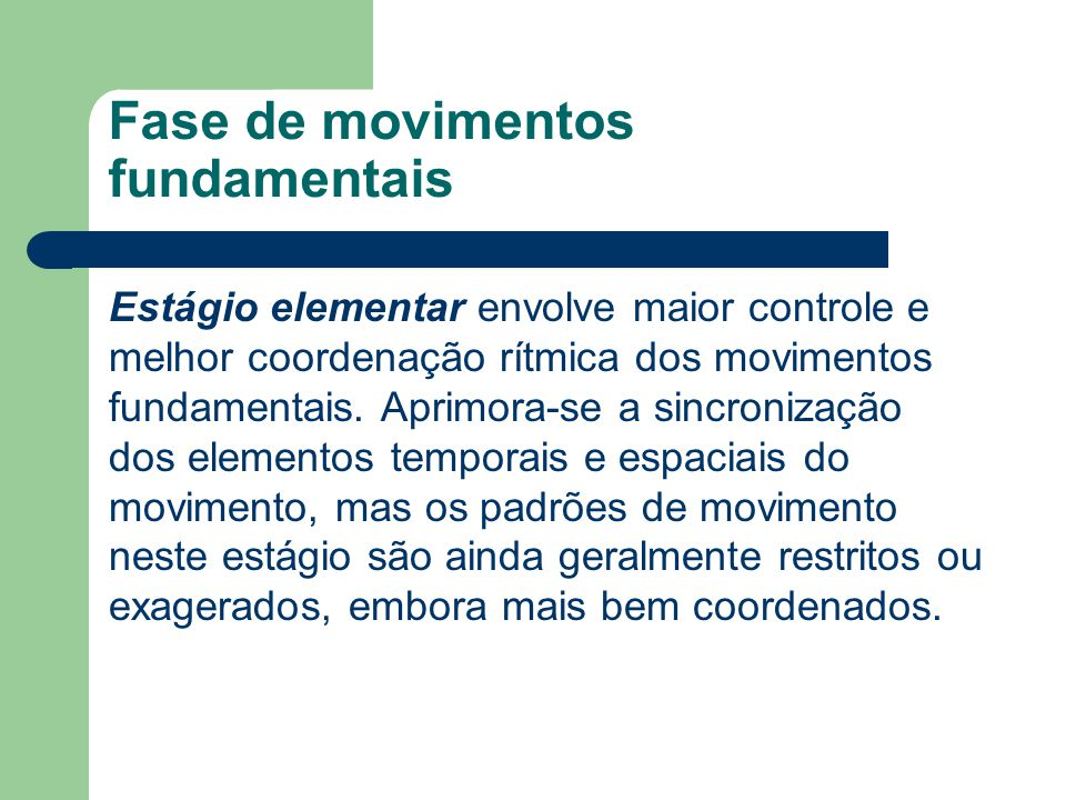 Fase de movimentos fundamentais
