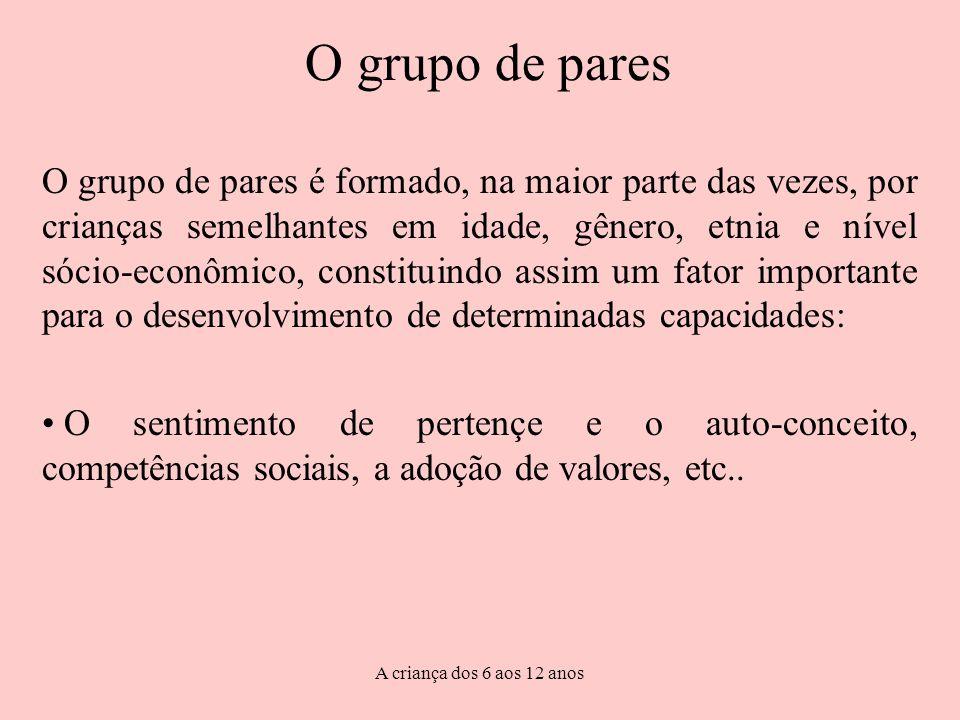O grupo de pares