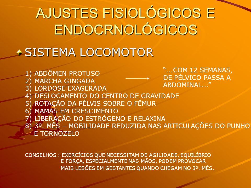 AJUSTES FISIOLÓGICOS E ENDOCRNOLÓGICOS