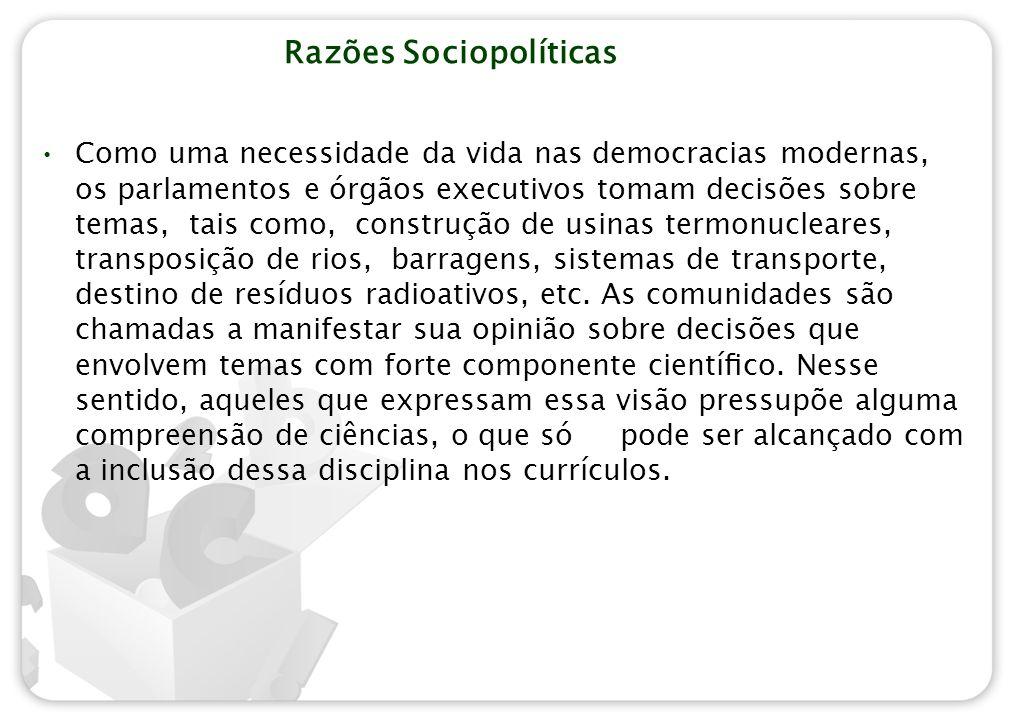 Razões Sociopolíticas
