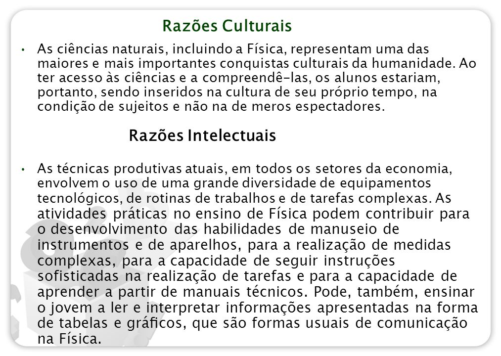 Razões Culturais
