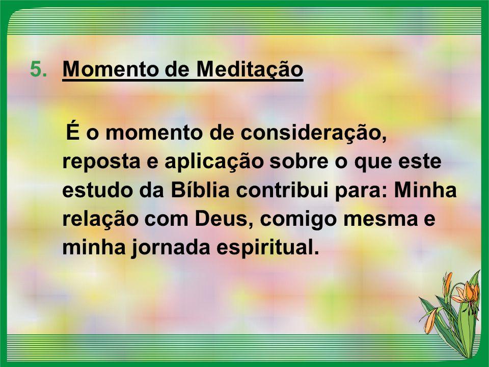 Momento de Meditação