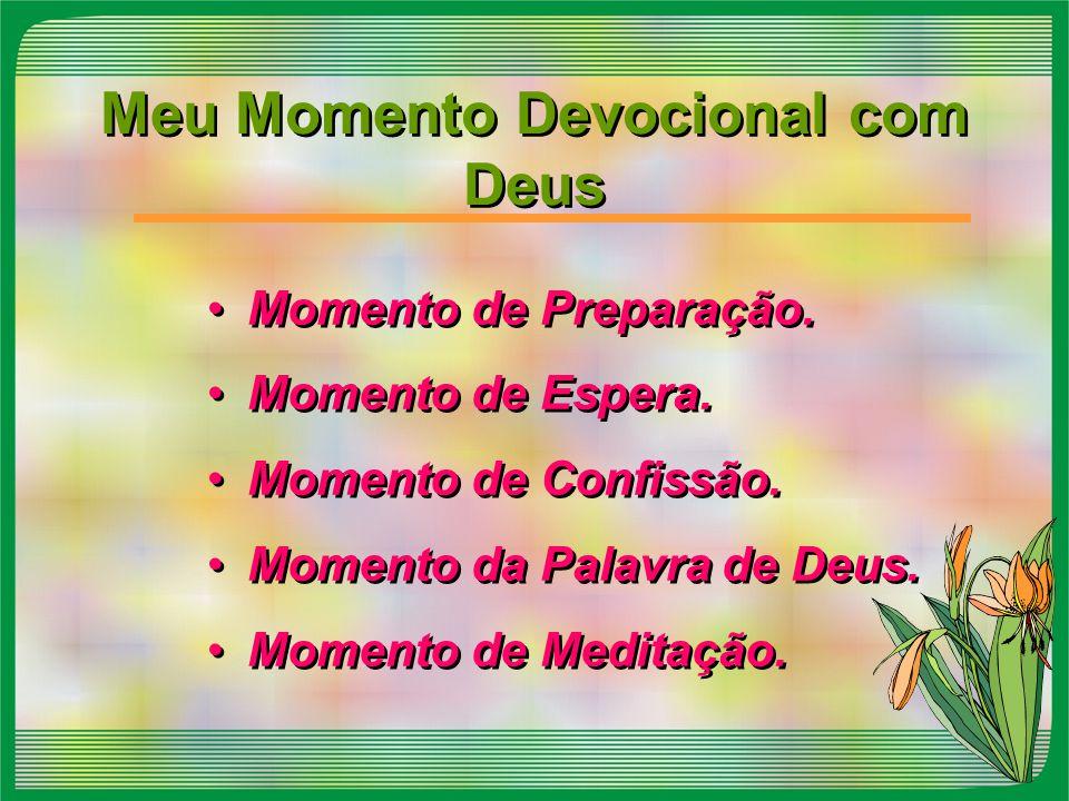 Meu Momento Devocional com Deus