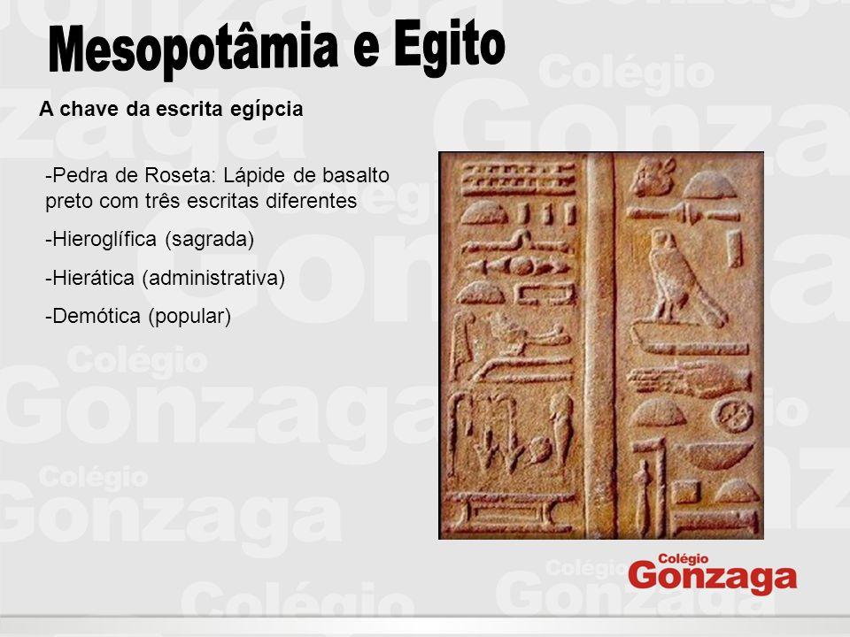 Mesopotâmia e Egito A chave da escrita egípcia