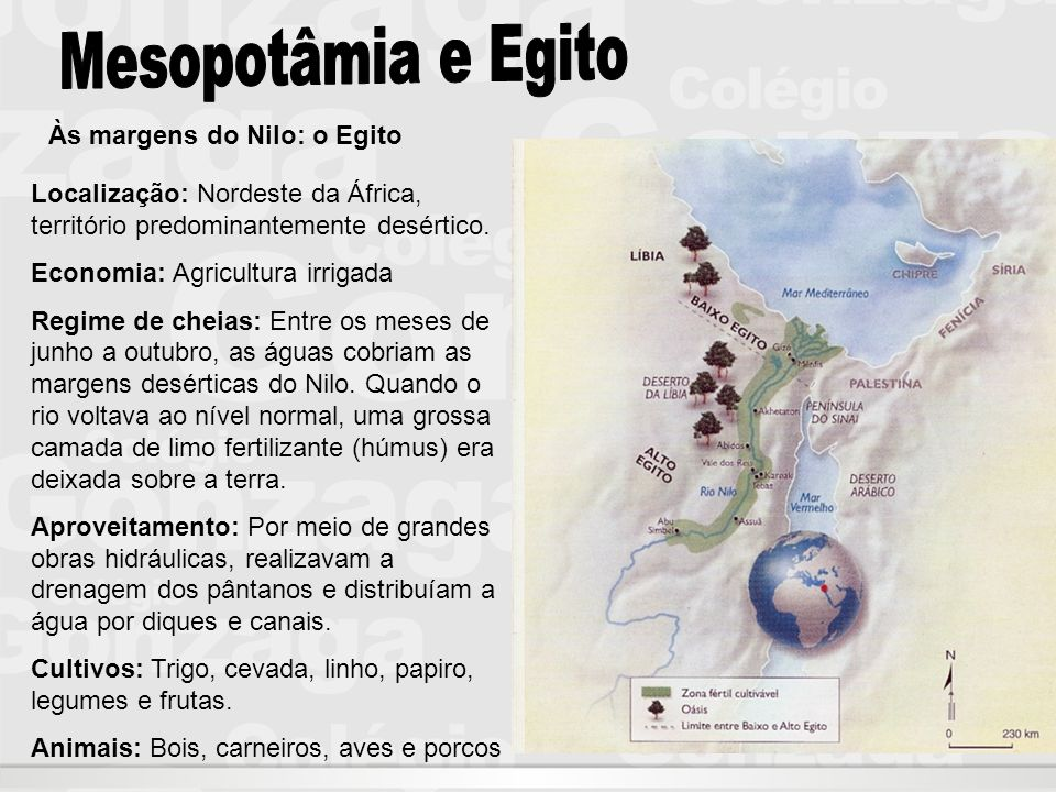 Mesopotâmia e Egito Às margens do Nilo: o Egito