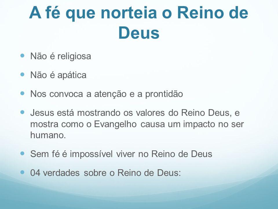 A fé que norteia o Reino de Deus