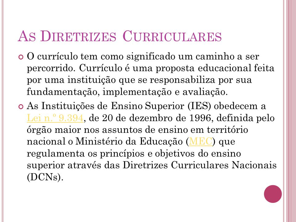 As Diretrizes Curriculares
