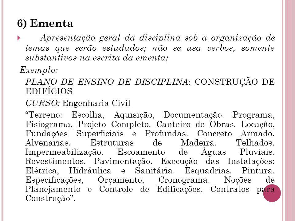 6) Ementa