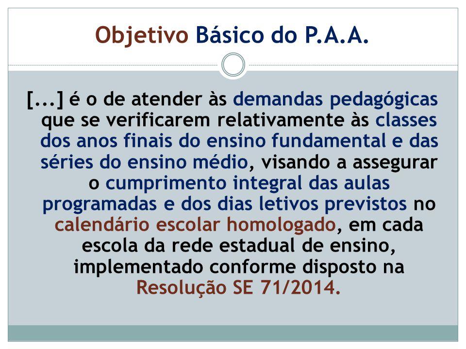 Objetivo Básico do P.A.A.