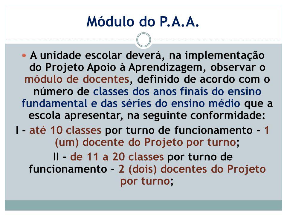 Módulo do P.A.A.