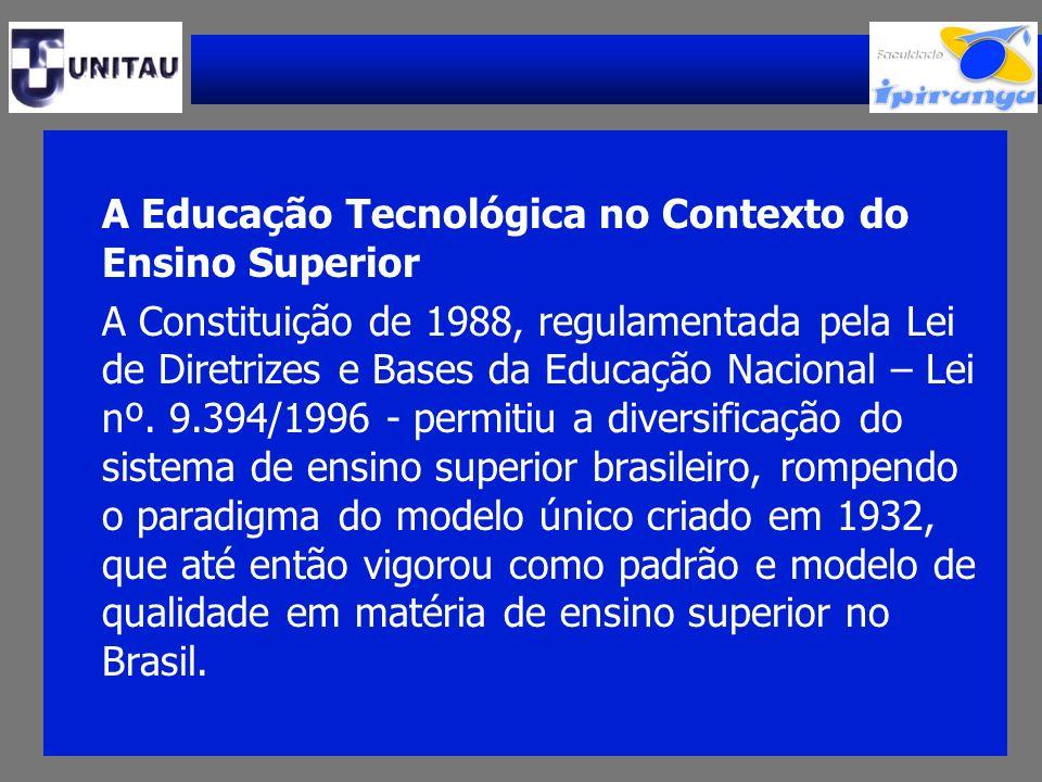A Educação Tecnológica no Contexto do Ensino Superior