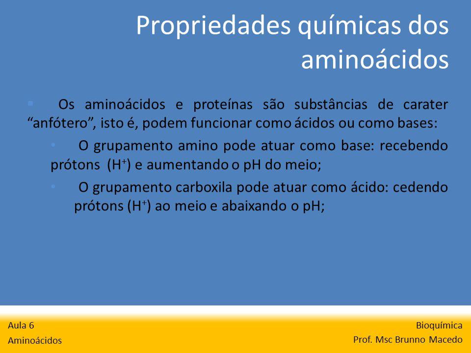 Propriedades químicas dos aminoácidos