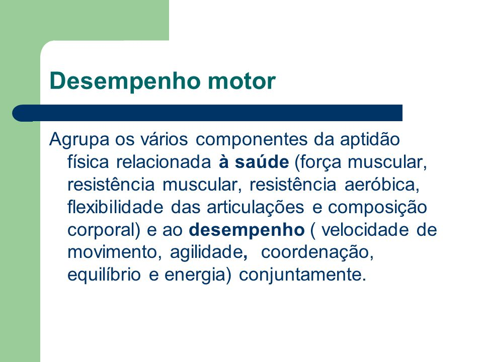 Desempenho motor