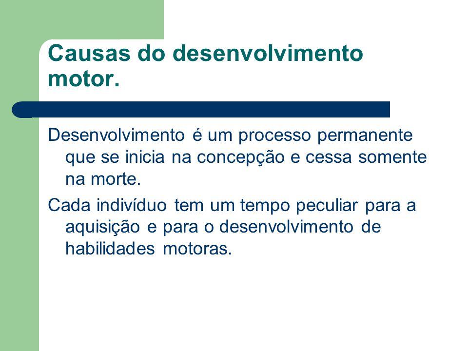 Causas do desenvolvimento motor.