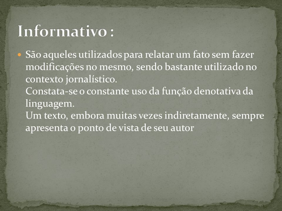 Informativo :