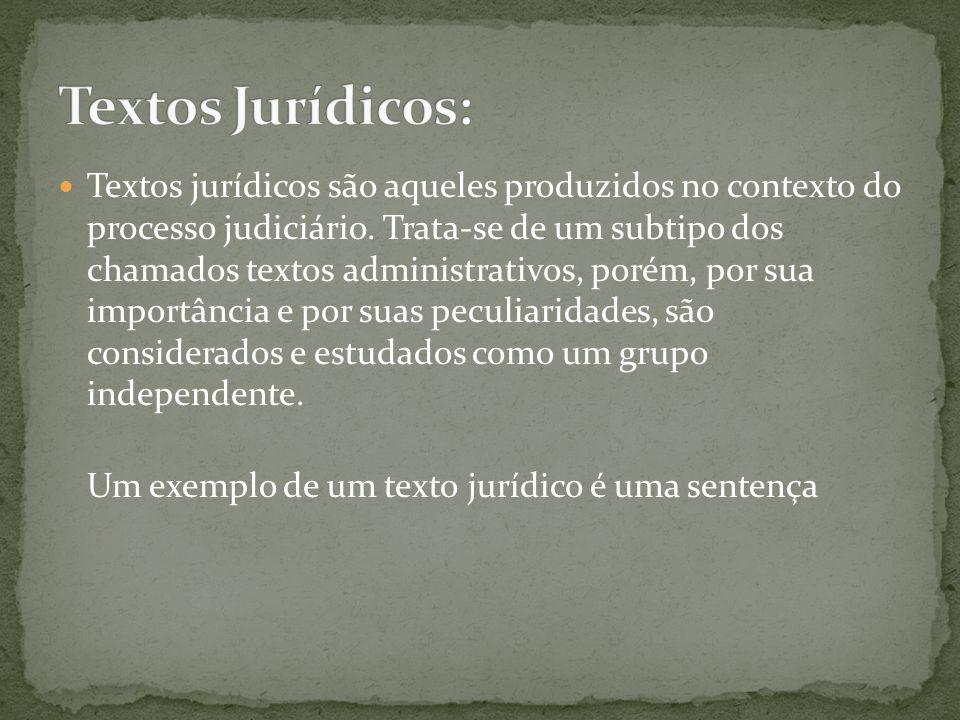Textos Jurídicos: