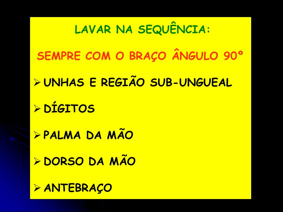 SEMPRE COM O BRAÇO ÂNGULO 90º