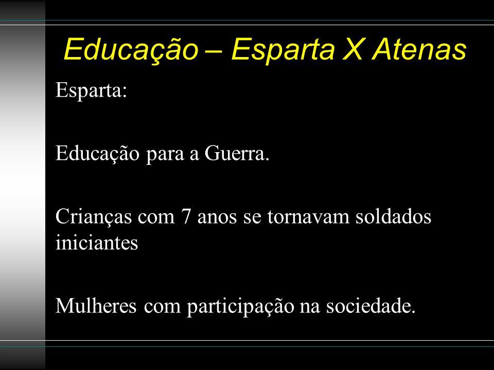Educação – Esparta X Atenas