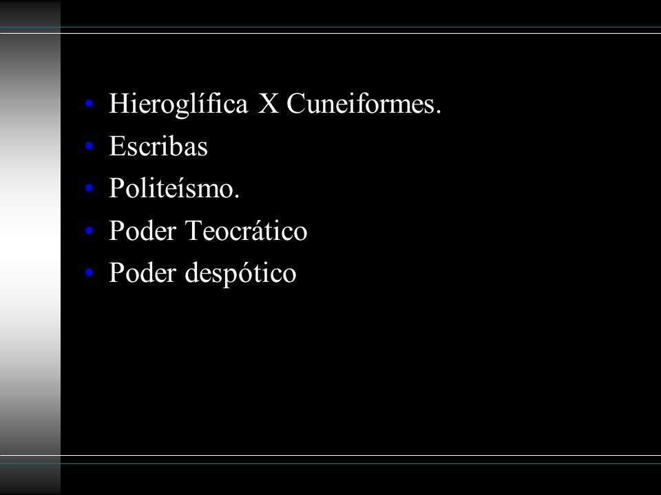 Hieroglífica X Cuneiformes.