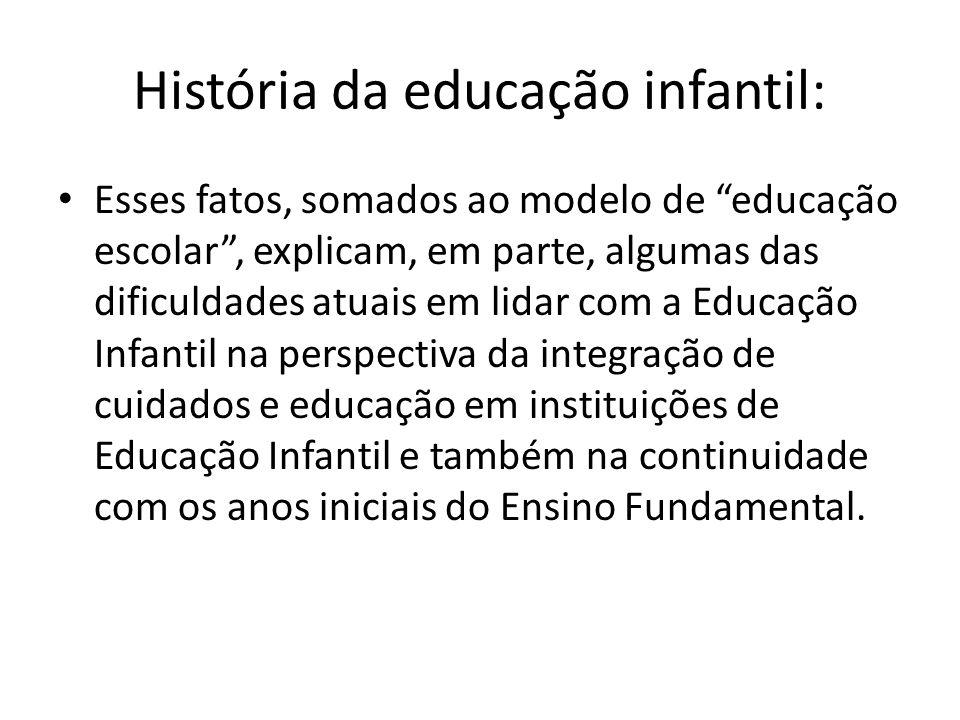História da educação infantil: