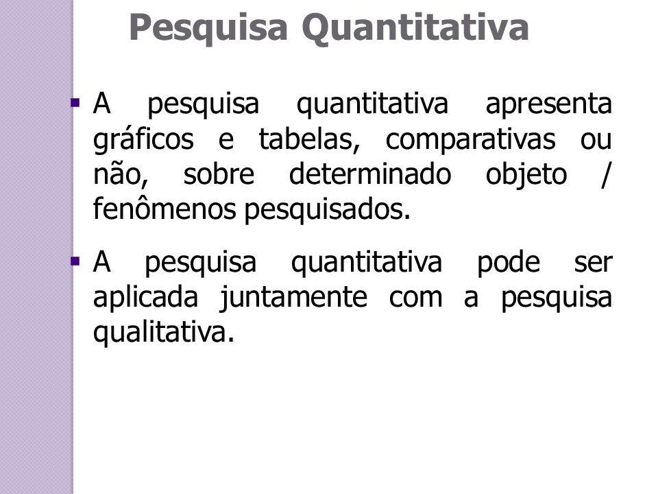 Pesquisa quantitativa conceito