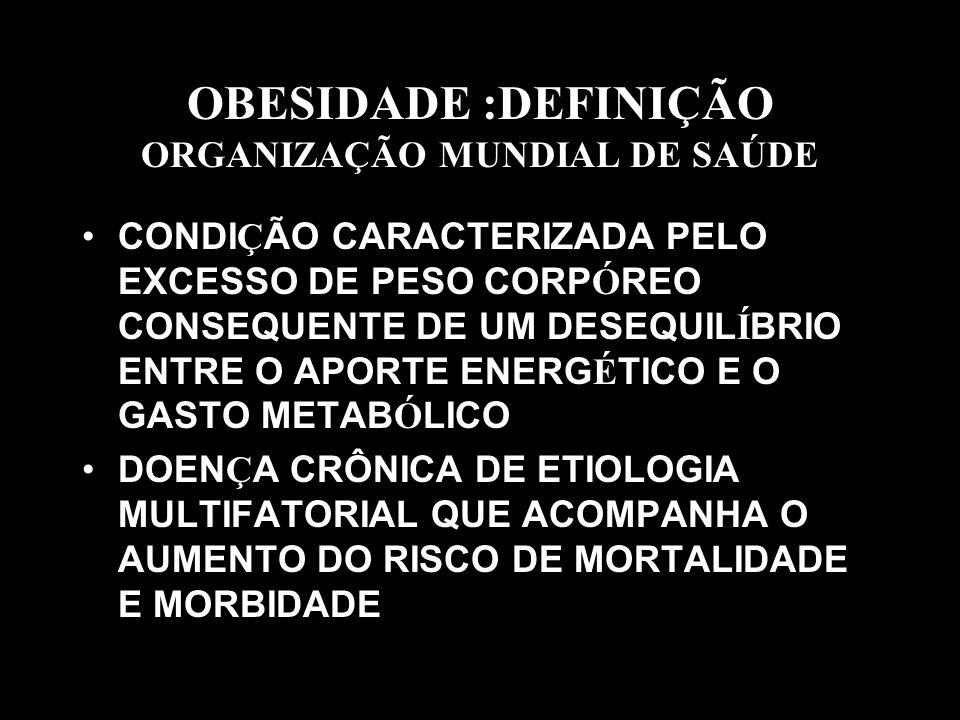 OBESIDADE :DEFINIÇÃO ORGANIZAÇÃO MUNDIAL DE SAÚDE