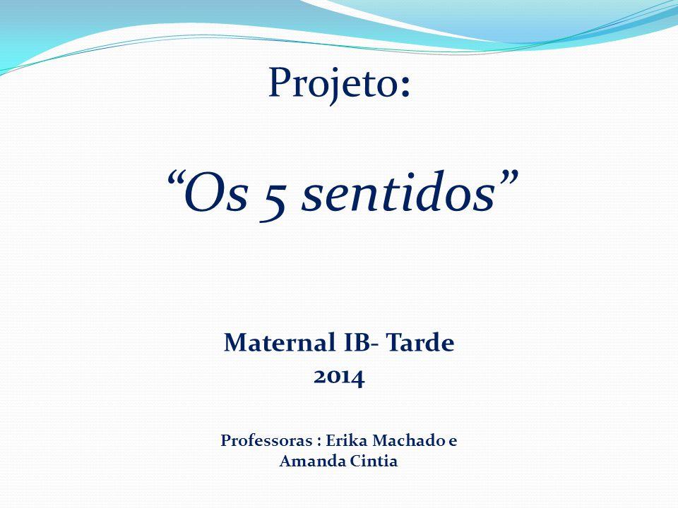 Projeto: Os 5 sentidos Maternal IB- Tarde 2014 Professoras : Erika Machado e Amanda Cintia