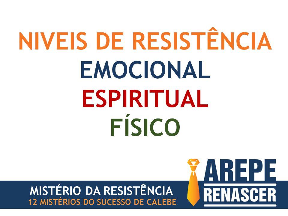NIVEIS DE RESISTÊNCIA EMOCIONAL ESPIRITUAL FÍSICO