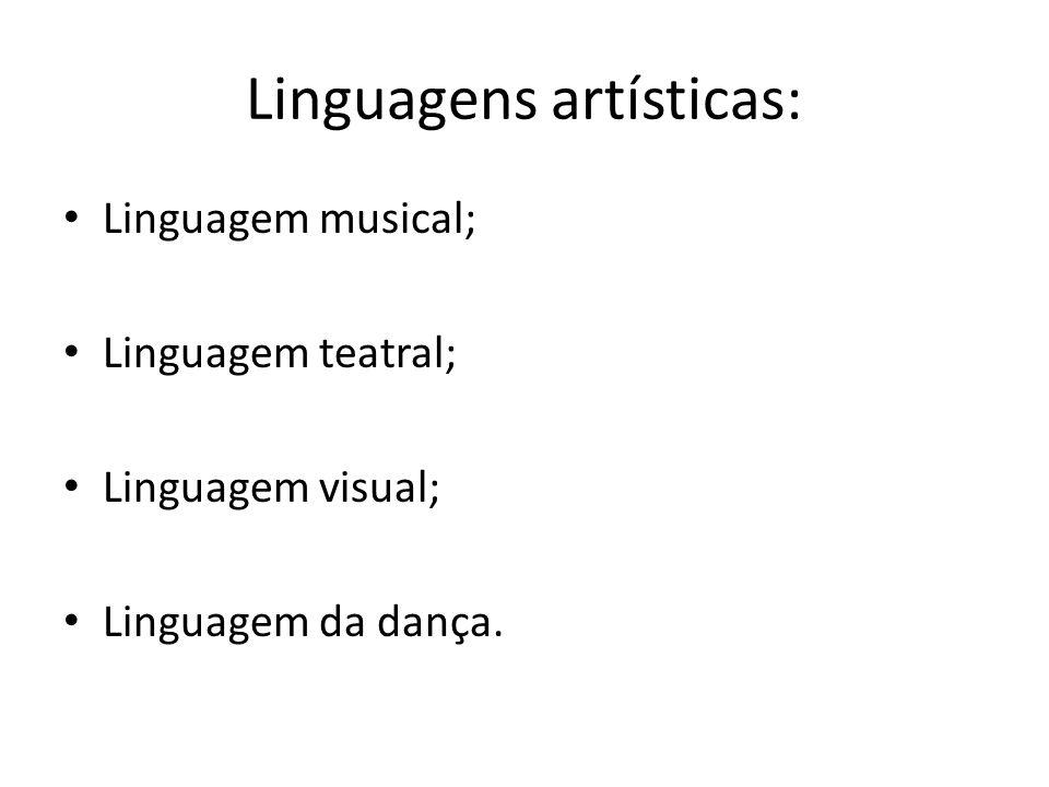 Linguagens artísticas: