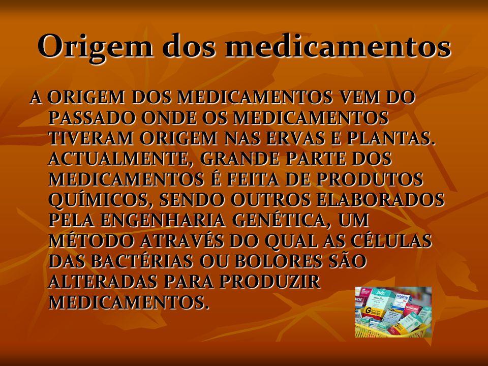 Origem dos medicamentos