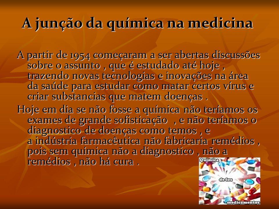 A junção da química na medicina
