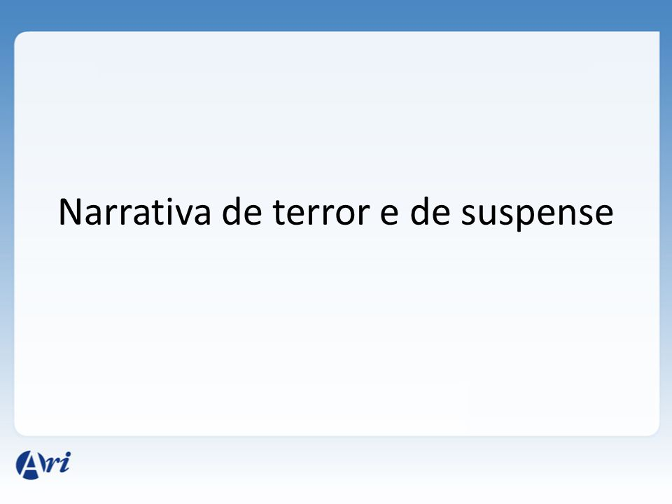 Narrativa de terror e de suspense