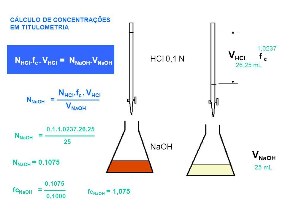 VHCl NHCl.fc . VHCl 0,1.1,0237.26,25 VNaOH 0,1075 HCl 0,1 N NaOH f c