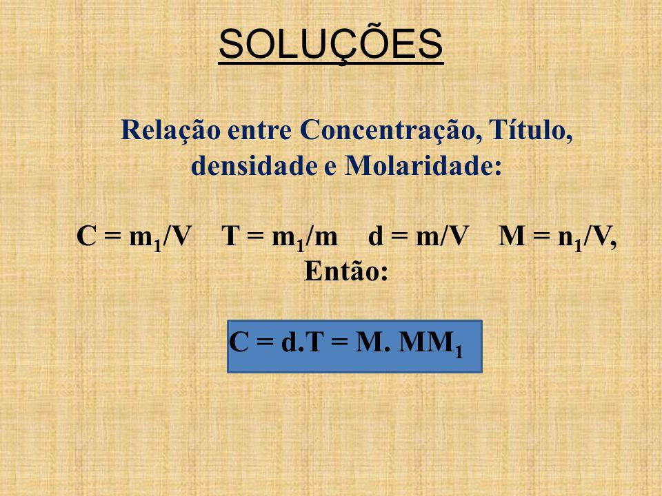 C = m1/V T = m1/m d = m/V M = n1/V,