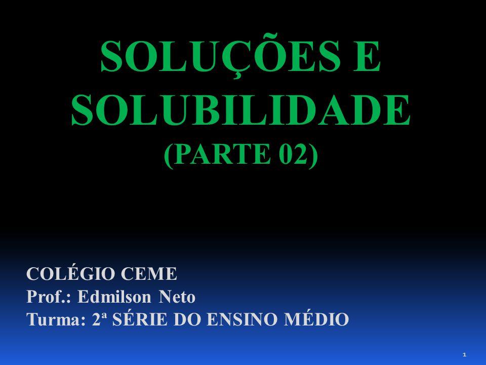 SOLUÇÕES E SOLUBILIDADE (PARTE 02)