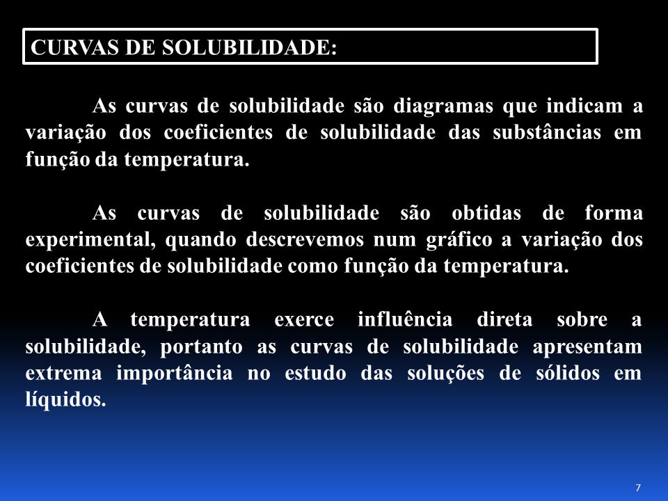CURVAS DE SOLUBILIDADE: