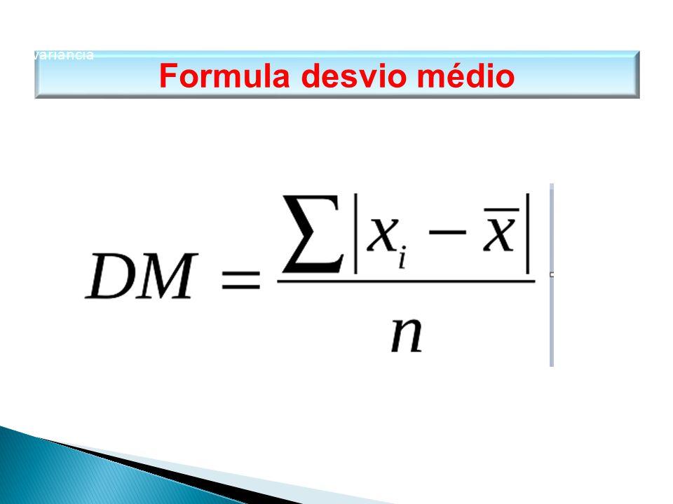 Formula desvio médio MATEMÁTICA, 1º Ano